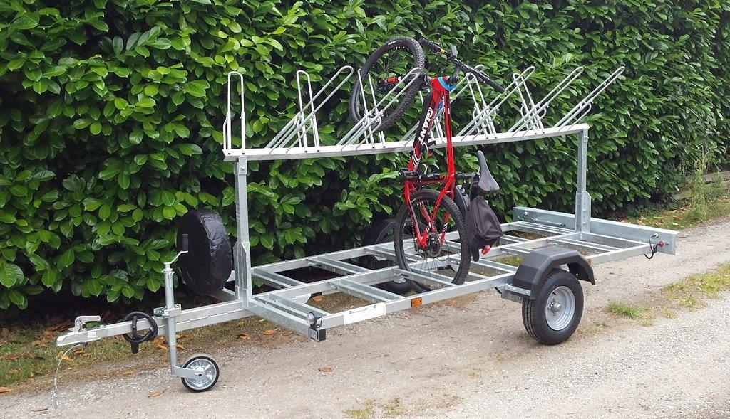 Bike trailer to carry 12 bikes